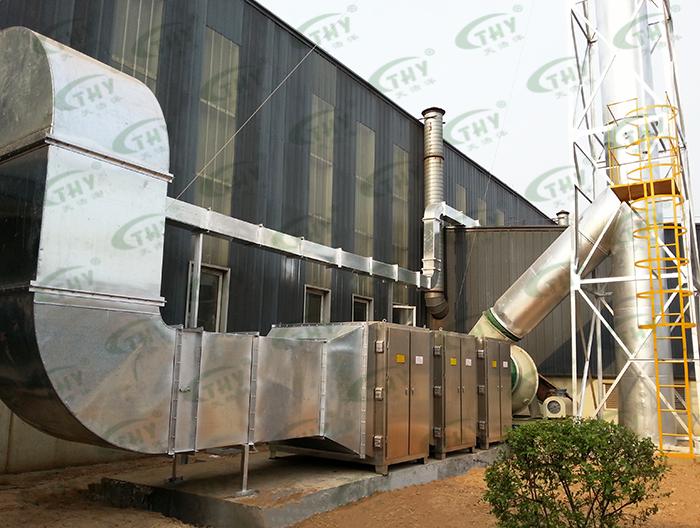 南京巨龙钢管有限公司喷漆废气处理工程1