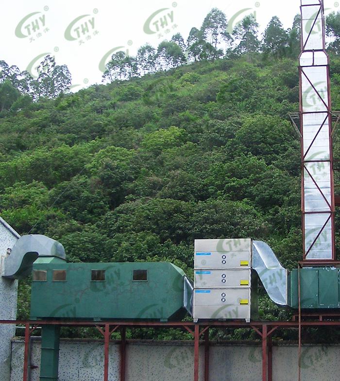 深圳市蓝盾之星科技有限公司废水池废气处理工程1