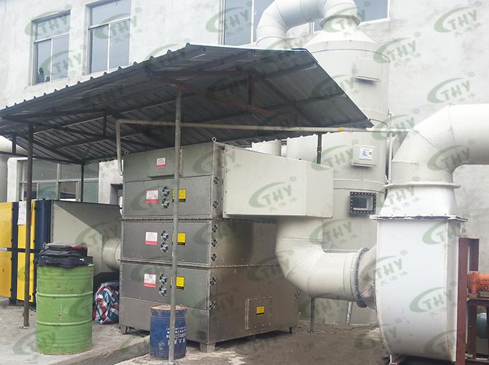 南京发尔士化工有限公司猪下水炼油产生的恶臭气体处理工程1