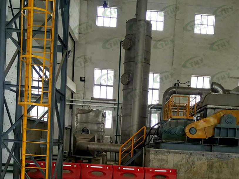 山东天力湛江宝钢污泥加热烘干臭气净化工程